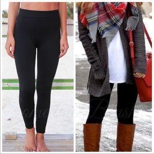 Pants - Black fleece lined leggings